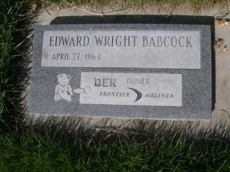 BABCOCK, EDWARD WRIGHT - Dawes County, Nebraska | EDWARD WRIGHT BABCOCK - Nebraska Gravestone Photos
