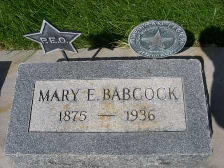 BABCOCK, MARY E. - Dawes County, Nebraska | MARY E. BABCOCK - Nebraska Gravestone Photos