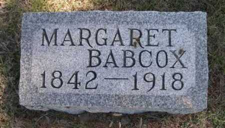 BABCOX, MARGARET - Dawes County, Nebraska | MARGARET BABCOX - Nebraska Gravestone Photos