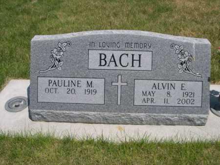 BACH, ALVIN E. - Dawes County, Nebraska   ALVIN E. BACH - Nebraska Gravestone Photos