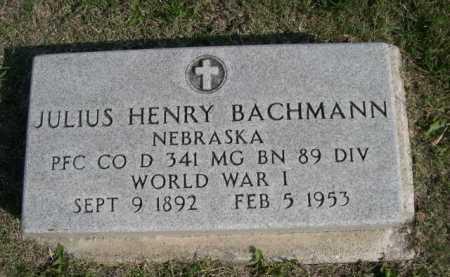 BACHMANN, JULIUS HENRY - Dawes County, Nebraska   JULIUS HENRY BACHMANN - Nebraska Gravestone Photos