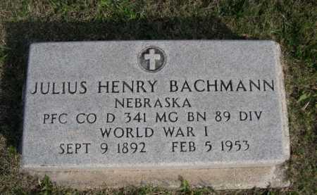 BACHMANN, JULIUS HENRY - Dawes County, Nebraska | JULIUS HENRY BACHMANN - Nebraska Gravestone Photos