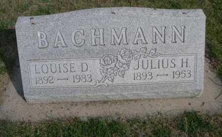 BACHMANN, LOUISE D. - Dawes County, Nebraska | LOUISE D. BACHMANN - Nebraska Gravestone Photos