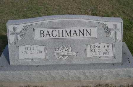 BACHMANN, DONALD W. - Dawes County, Nebraska | DONALD W. BACHMANN - Nebraska Gravestone Photos