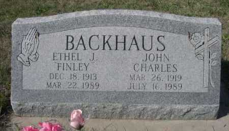 FINLEY BACKHAUS, ETHEL J. - Dawes County, Nebraska | ETHEL J. FINLEY BACKHAUS - Nebraska Gravestone Photos