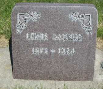 BACKUS, LEWIS - Dawes County, Nebraska | LEWIS BACKUS - Nebraska Gravestone Photos