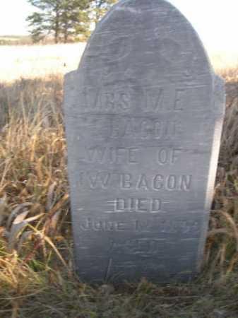 BACON, M. E. - Dawes County, Nebraska | M. E. BACON - Nebraska Gravestone Photos