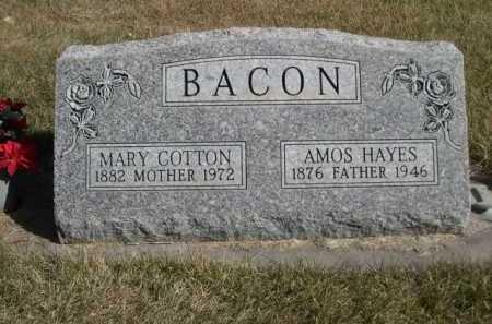 BACON, MARY COTTON - Dawes County, Nebraska | MARY COTTON BACON - Nebraska Gravestone Photos
