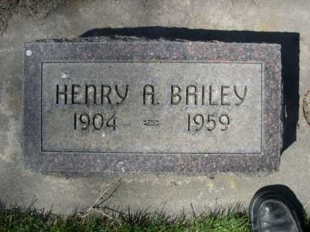 BAILEY, HENRY A. - Dawes County, Nebraska | HENRY A. BAILEY - Nebraska Gravestone Photos