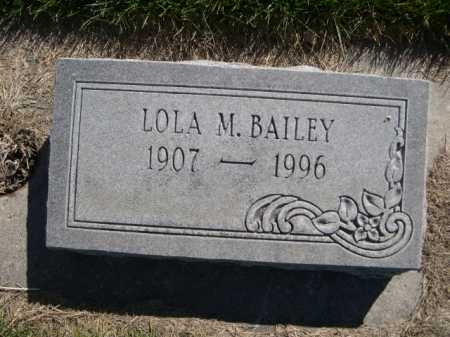 BAILEY, LOLA M. - Dawes County, Nebraska | LOLA M. BAILEY - Nebraska Gravestone Photos