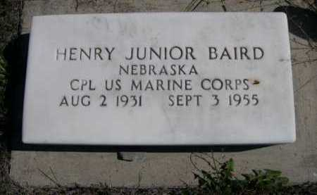 BAIRD, HENRY JUNIOR - Dawes County, Nebraska | HENRY JUNIOR BAIRD - Nebraska Gravestone Photos