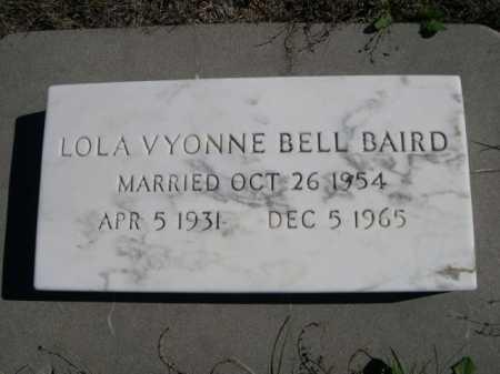 BAIRD, LOLA VYONNE - Dawes County, Nebraska | LOLA VYONNE BAIRD - Nebraska Gravestone Photos