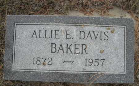 DAVIS BAKER, ALLIE E. - Dawes County, Nebraska | ALLIE E. DAVIS BAKER - Nebraska Gravestone Photos