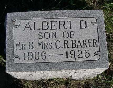 BAKER, ALBERT D. - Dawes County, Nebraska | ALBERT D. BAKER - Nebraska Gravestone Photos