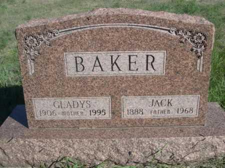 BAKER, GLADYS - Dawes County, Nebraska | GLADYS BAKER - Nebraska Gravestone Photos