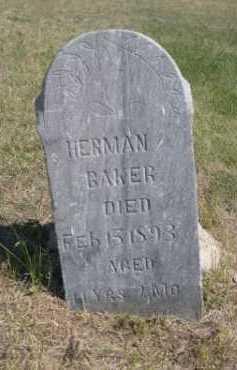 BAKER, HERMAN - Dawes County, Nebraska | HERMAN BAKER - Nebraska Gravestone Photos