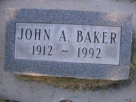 BAKER, JOHN A - Dawes County, Nebraska | JOHN A BAKER - Nebraska Gravestone Photos