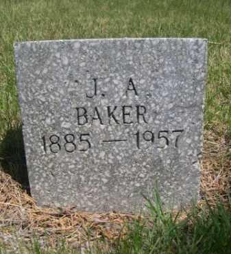 BAKER, J. A. - Dawes County, Nebraska | J. A. BAKER - Nebraska Gravestone Photos