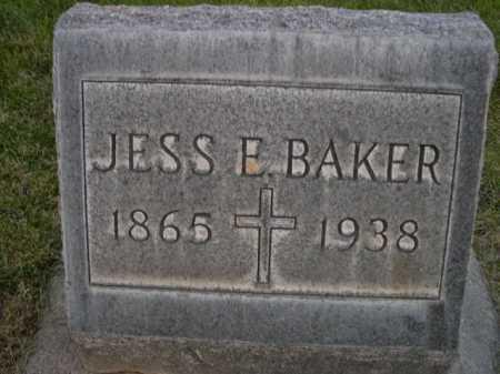BAKER, JESS E. - Dawes County, Nebraska | JESS E. BAKER - Nebraska Gravestone Photos
