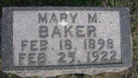 BAKER, MARY M. - Dawes County, Nebraska | MARY M. BAKER - Nebraska Gravestone Photos