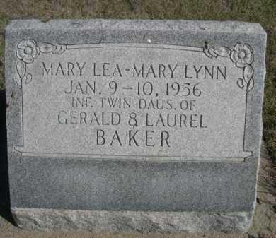 BAKER, MARY LEA - Dawes County, Nebraska | MARY LEA BAKER - Nebraska Gravestone Photos