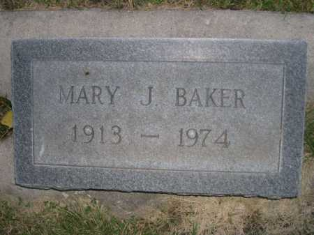 BAKER, MARY J. - Dawes County, Nebraska | MARY J. BAKER - Nebraska Gravestone Photos