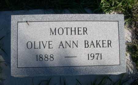 BAKER, OLIVE ANN - Dawes County, Nebraska   OLIVE ANN BAKER - Nebraska Gravestone Photos