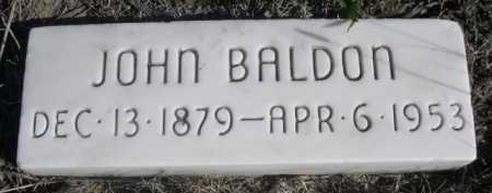BALDON, JOHN - Dawes County, Nebraska   JOHN BALDON - Nebraska Gravestone Photos