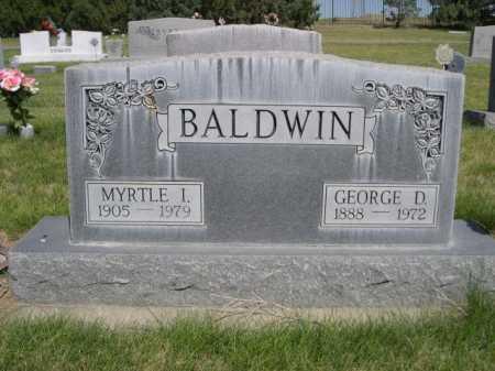 BALDWIN, MYRTLE I. - Dawes County, Nebraska   MYRTLE I. BALDWIN - Nebraska Gravestone Photos