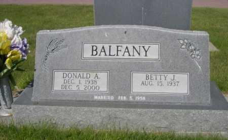 BALFANY, DONALD A. - Dawes County, Nebraska | DONALD A. BALFANY - Nebraska Gravestone Photos