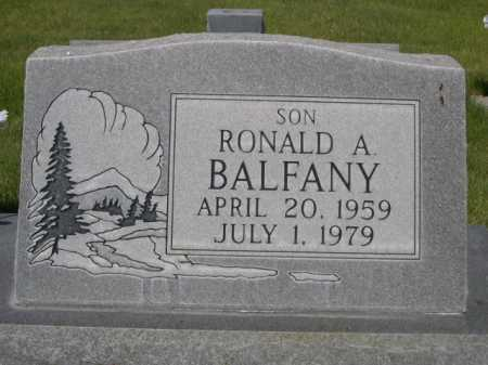 BALFANY, RONALD A. - Dawes County, Nebraska | RONALD A. BALFANY - Nebraska Gravestone Photos