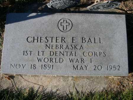 BALL, CHESTER E. - Dawes County, Nebraska | CHESTER E. BALL - Nebraska Gravestone Photos