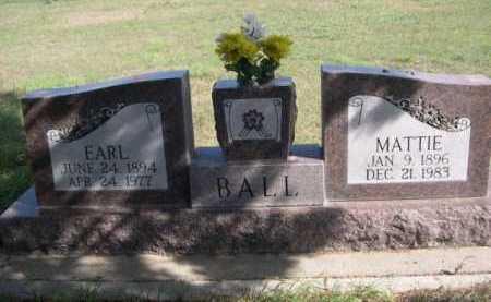BALL, EARL - Dawes County, Nebraska | EARL BALL - Nebraska Gravestone Photos