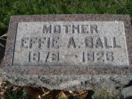 BALL, EFFIE A - Dawes County, Nebraska | EFFIE A BALL - Nebraska Gravestone Photos
