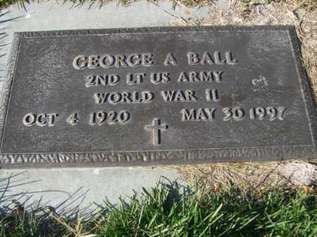 BALL, GEORGE A. - Dawes County, Nebraska | GEORGE A. BALL - Nebraska Gravestone Photos