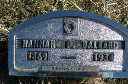 BALLARD, HANNAH P. - Dawes County, Nebraska | HANNAH P. BALLARD - Nebraska Gravestone Photos