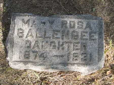 BALLENGEE, MARY ROSA - Dawes County, Nebraska | MARY ROSA BALLENGEE - Nebraska Gravestone Photos