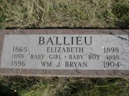 BALLIEU, WM. J. BRYAN - Dawes County, Nebraska | WM. J. BRYAN BALLIEU - Nebraska Gravestone Photos