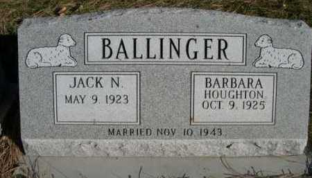 HOUGHTON BALLINGER, BARBARA - Dawes County, Nebraska | BARBARA HOUGHTON BALLINGER - Nebraska Gravestone Photos