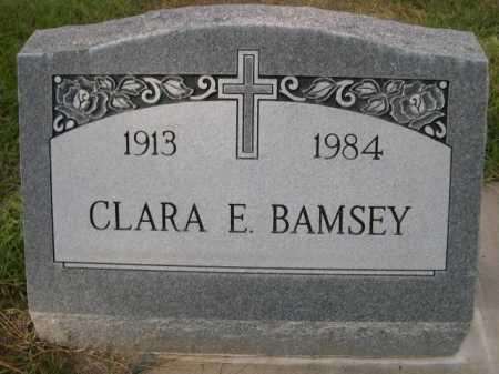 BAMSEY, CLARA E. - Dawes County, Nebraska   CLARA E. BAMSEY - Nebraska Gravestone Photos