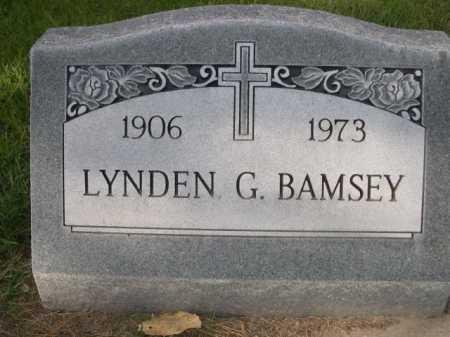 BAMSEY, LYNDEN - Dawes County, Nebraska | LYNDEN BAMSEY - Nebraska Gravestone Photos