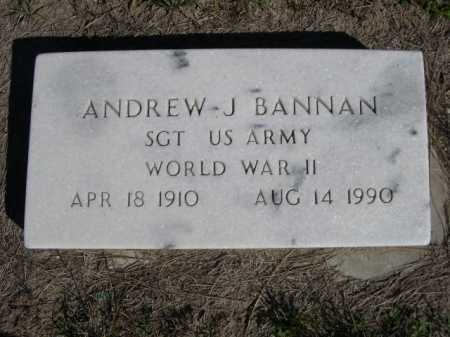 BANNAN, ANDREW J. - Dawes County, Nebraska   ANDREW J. BANNAN - Nebraska Gravestone Photos