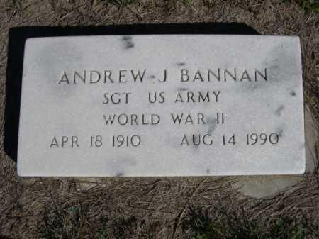 BANNAN, ANDREW J. - Dawes County, Nebraska | ANDREW J. BANNAN - Nebraska Gravestone Photos