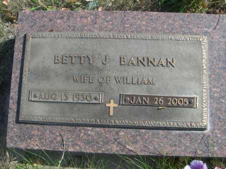 BANNAN, BETTY J. - Dawes County, Nebraska | BETTY J. BANNAN - Nebraska Gravestone Photos