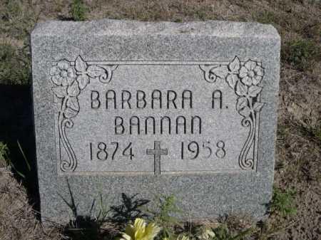 BANNAN, BARBARA A. - Dawes County, Nebraska   BARBARA A. BANNAN - Nebraska Gravestone Photos