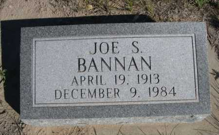 BANNAN, JOE S. - Dawes County, Nebraska | JOE S. BANNAN - Nebraska Gravestone Photos