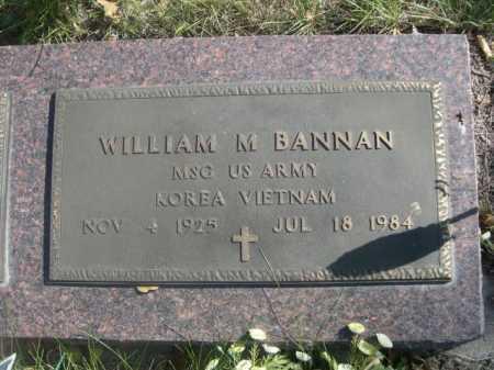 BANNAN, WILLIAM M. - Dawes County, Nebraska | WILLIAM M. BANNAN - Nebraska Gravestone Photos