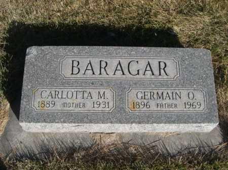 BARAGAR, GERMAIN O. - Dawes County, Nebraska | GERMAIN O. BARAGAR - Nebraska Gravestone Photos