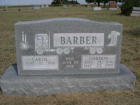BARBER, GORDON - Dawes County, Nebraska | GORDON BARBER - Nebraska Gravestone Photos
