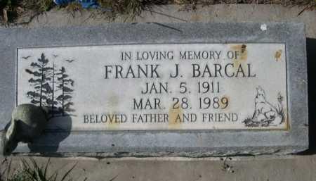 BARCAL, FRANK J. - Dawes County, Nebraska | FRANK J. BARCAL - Nebraska Gravestone Photos